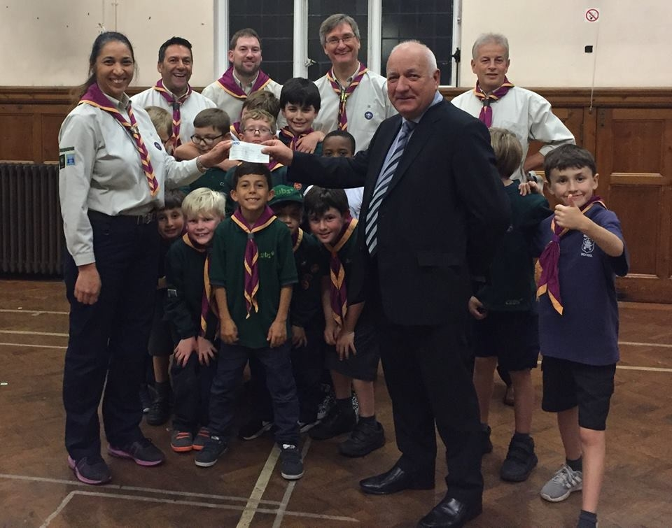1st Beckenham South (Christ Church) Receive Donation for Camping Equipment